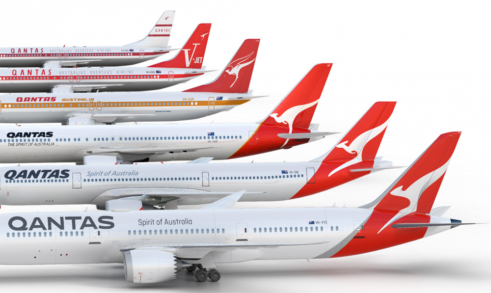 Qantas rebrand 2016 Be Visual co branding, design