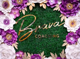 Brava Coaching Sydney Be Visual Co Graphic Design paper flowers