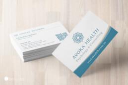 Avoka Health Psychology counselling gold coast northern nsw business card design